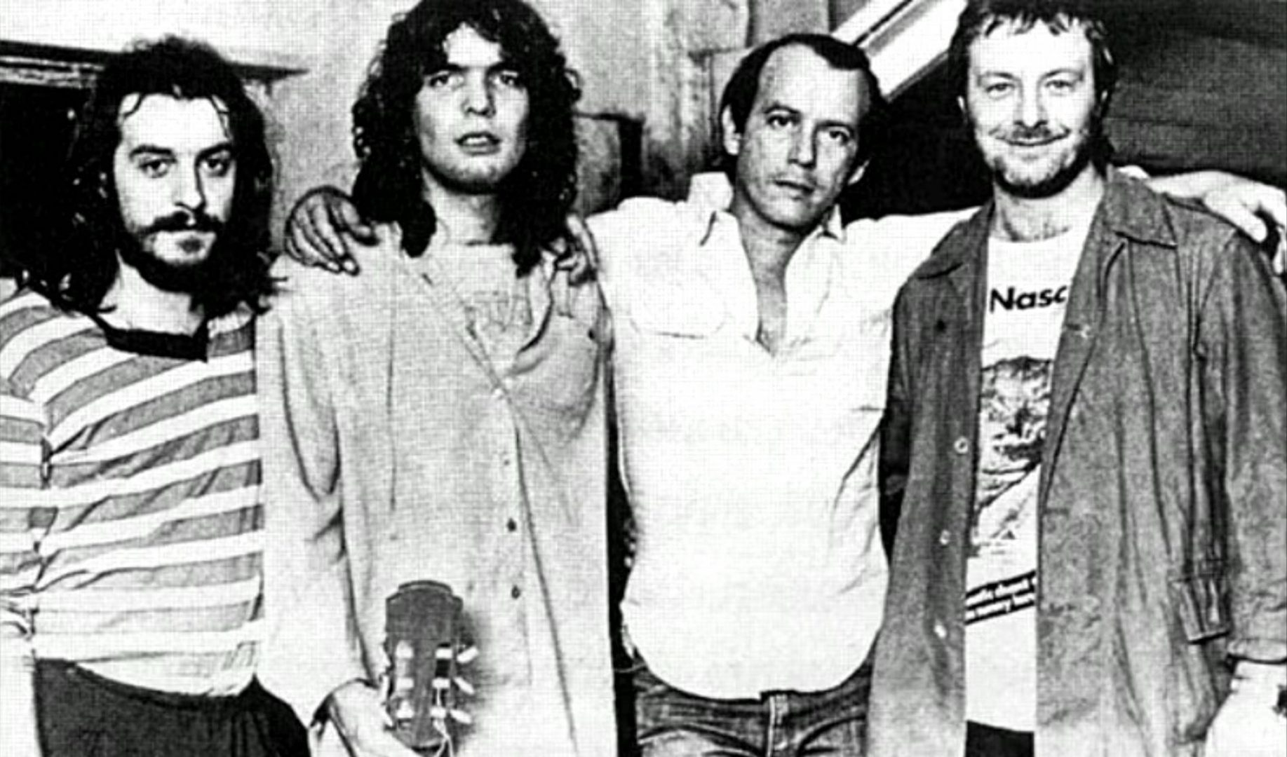 From left to right: Juan Carlos Baglietto, Santiago Feliú, Silvio Rodríguez and Leon Gieco.