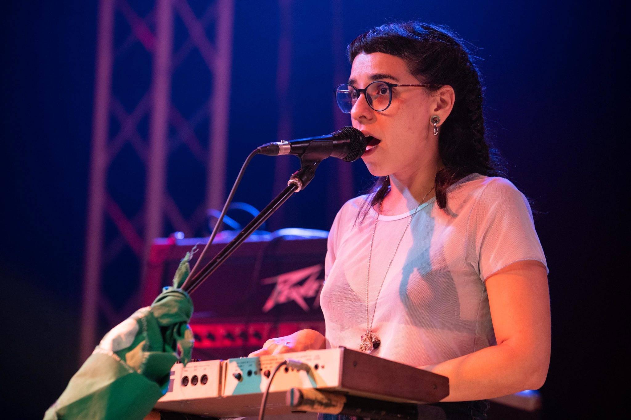Melina Spizzirri (synthesizers and trombone). Photo: Dynamicart