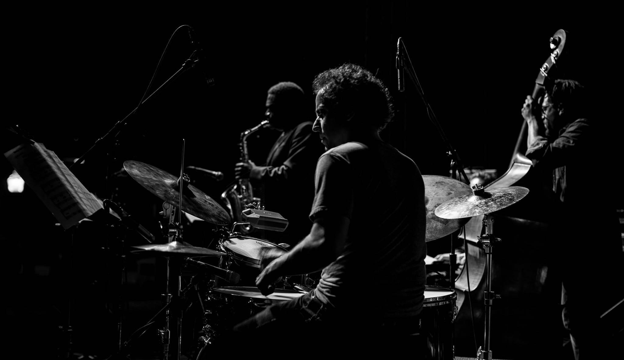 Dafnis Prieto, Yosvani y Yunior Terry, marzo de 2017. Foto: Miri Páez Bolet.