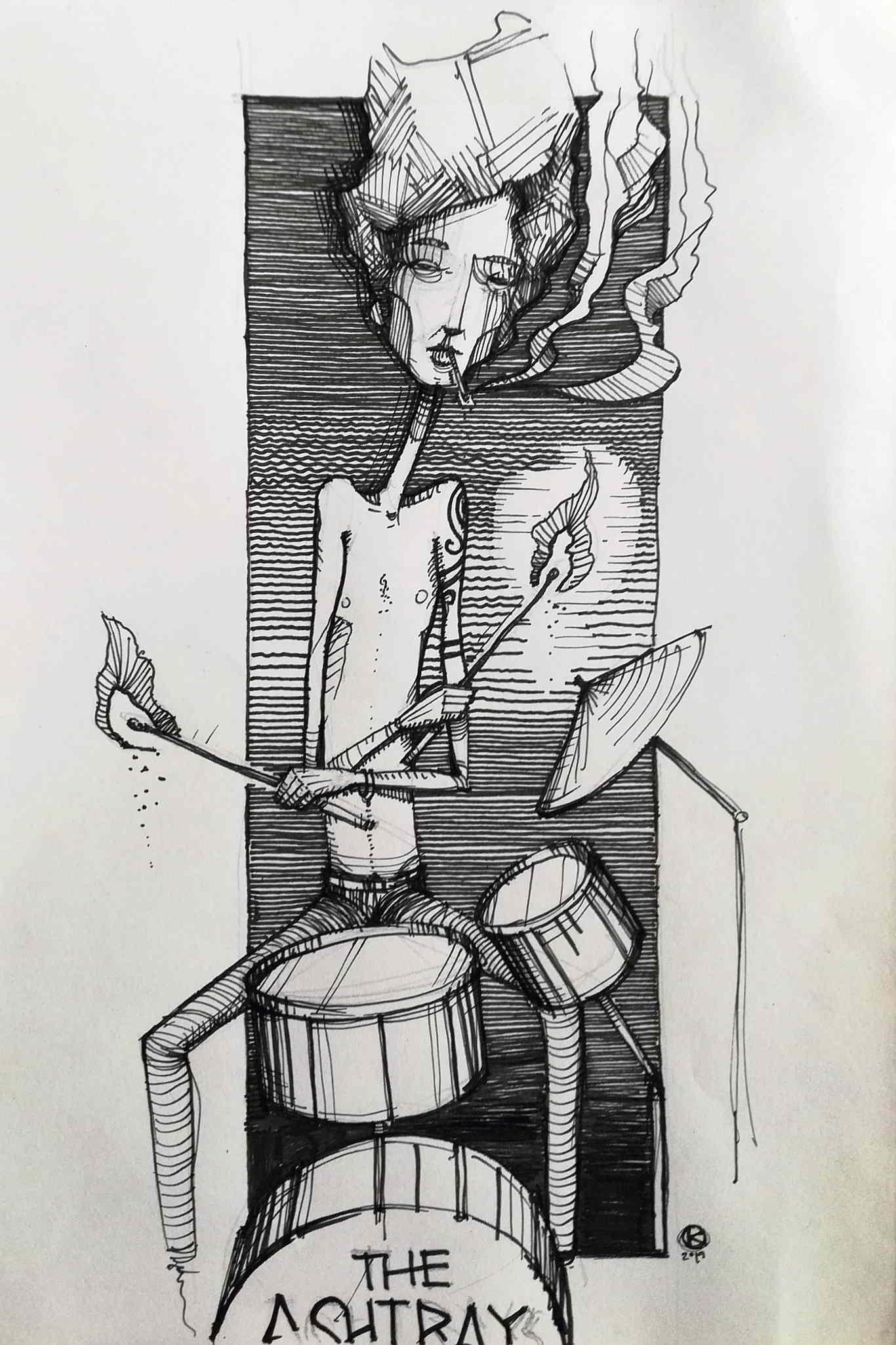 Inktober Día 13: Ash. Ilustración: Kmilo Nieto / Magazine AM:PM.