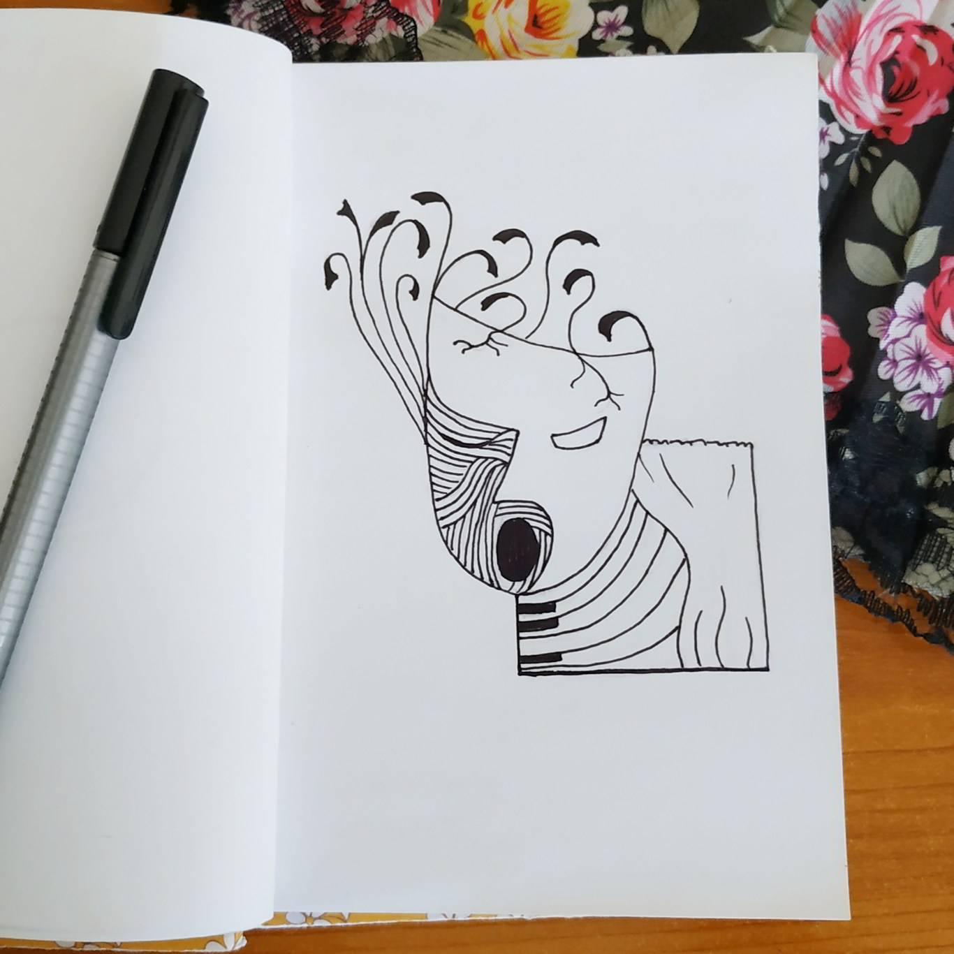 Inktober Día 22: Ghost. Ilustración: Marlene Patricia Posada Villanueva / Magazine AM:PM.