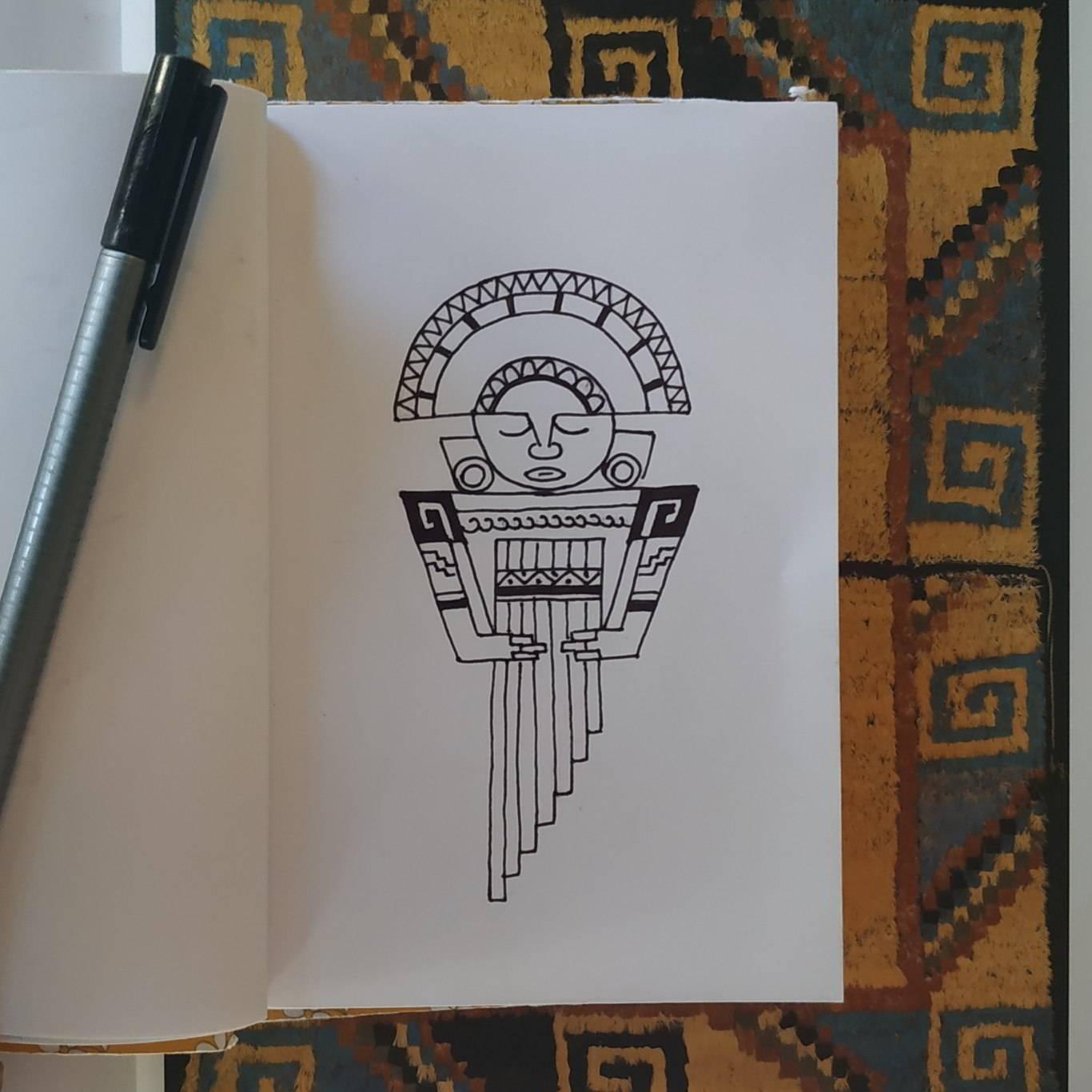 Inktober Día 23: Ancient. Ilustración: Marlene Patricia Posada Villanueva / Magazine AM:PM.