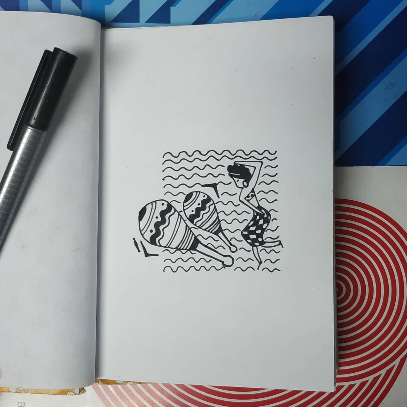 Inktober Día 25: Tasty. Ilustración: Marlene Patricia Posada Villanueva / Magazine AM:PM.