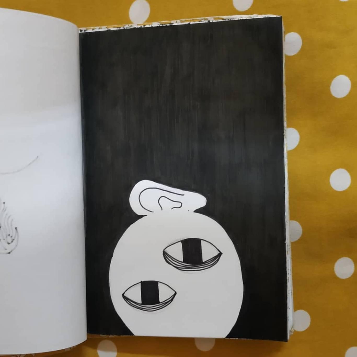 Inktober Día 26: Dark. Ilustración: Marlene Patricia Posada Villanueva / Magazine AM:PM.