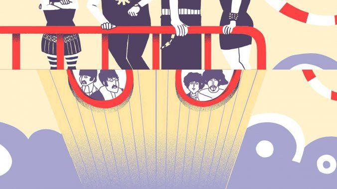 Submarino Amarillo. Ilustración: Mayo Bous / Magazine AM:PM.