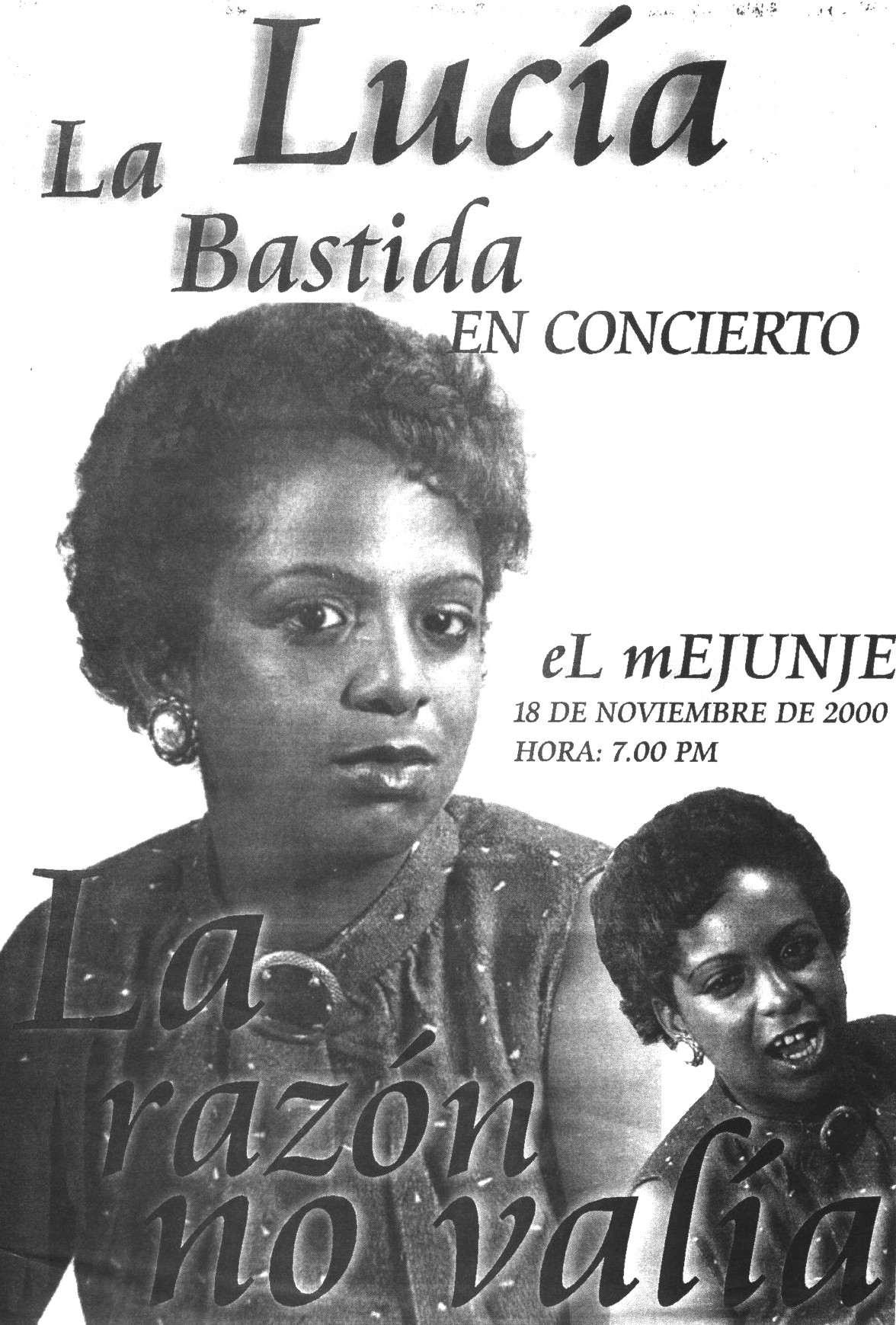 Poster of Lucía Labastida's first concert in El Mejunje. File: Alexis Castañeda