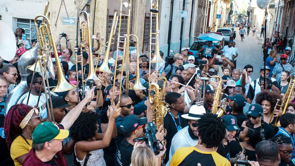Second Line Conga, como parte del evento Getting Funky in Havana, en el Festival Internacional Jazz Plaza 2020. Foto: Rolo Cabrera / Magazine AMPM.