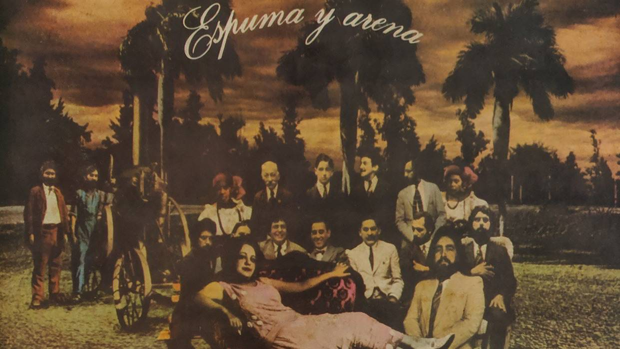 Portada del disco Espuma y arena. Diseño: Gory y Rubén Torres.