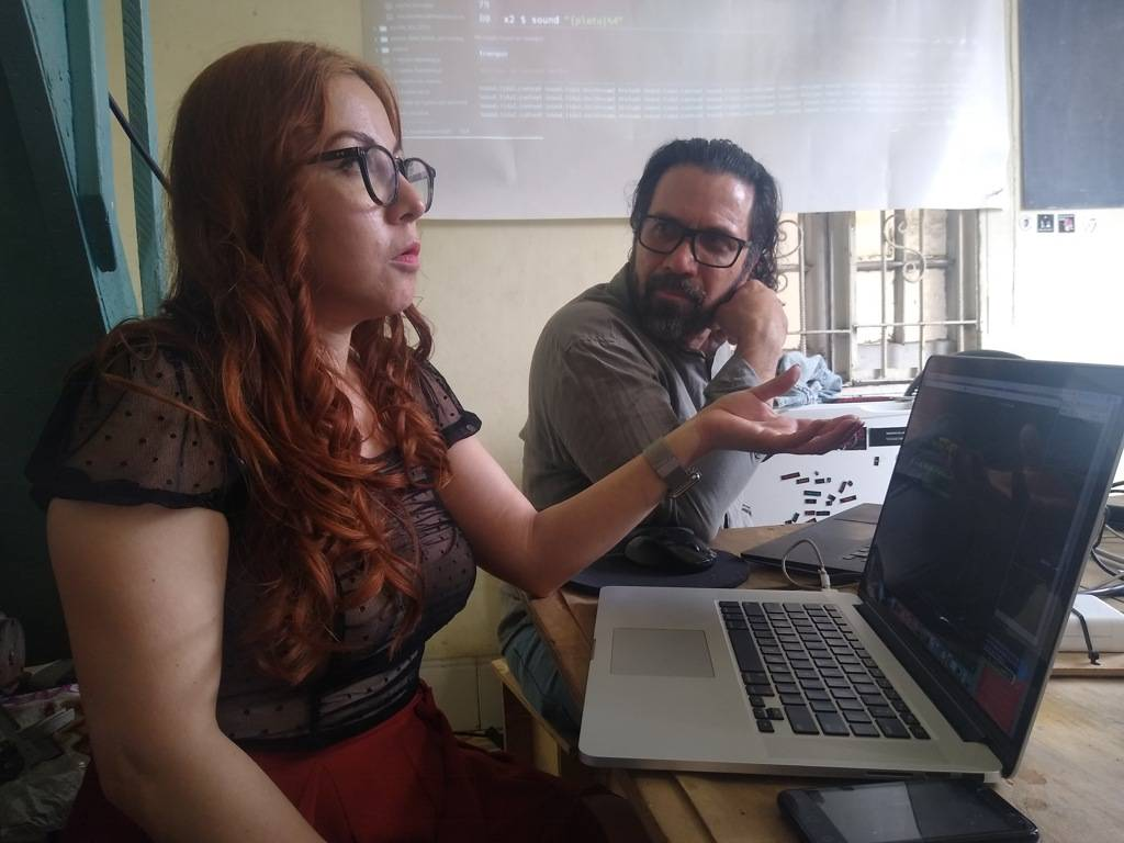 Malitzin Cortés e Iván Abreu durante el Taller en La Habana. Foto: María Lucía Expósito