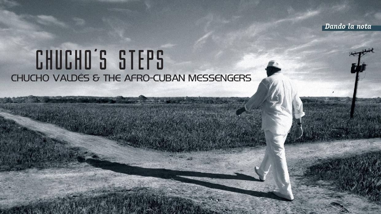 Portada del álbum Chucho's Steps, de Chucho Valdés y Afro Cuban Messengers. Foto y diseño: Alejandro Pérez y Pedro Vázquez.