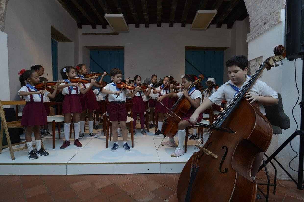 Children's Symphonic Center of Old Havana. Photo: Néstor Martí.
