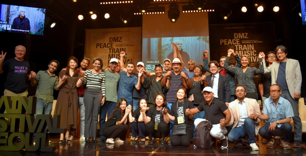 Participación de artistas cubanos en el DMZ Festival, Corea del Sur, 2019. Foto: Cortesía de la entrevistada