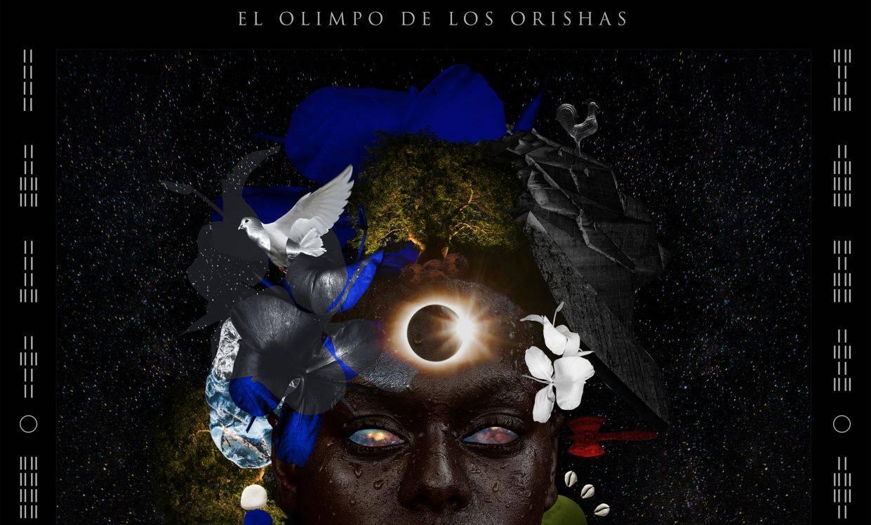 Detail of the cover of the album El Olimpo de los Orishas.