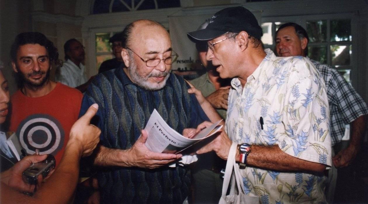 Rafael Bassi junto a Eddie Palmieri en Barrranquilla. Foto: Archivo de Rafael Bassi / Jacoviche Melomanía.
