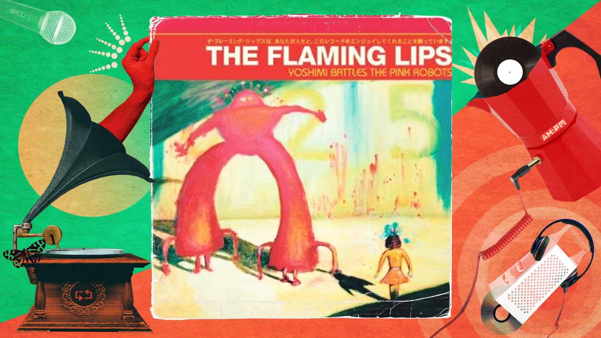 Diseño: Jennifer Ancizar, a partir de la portada del álbum Yoshimi Battles the Pink Robots.