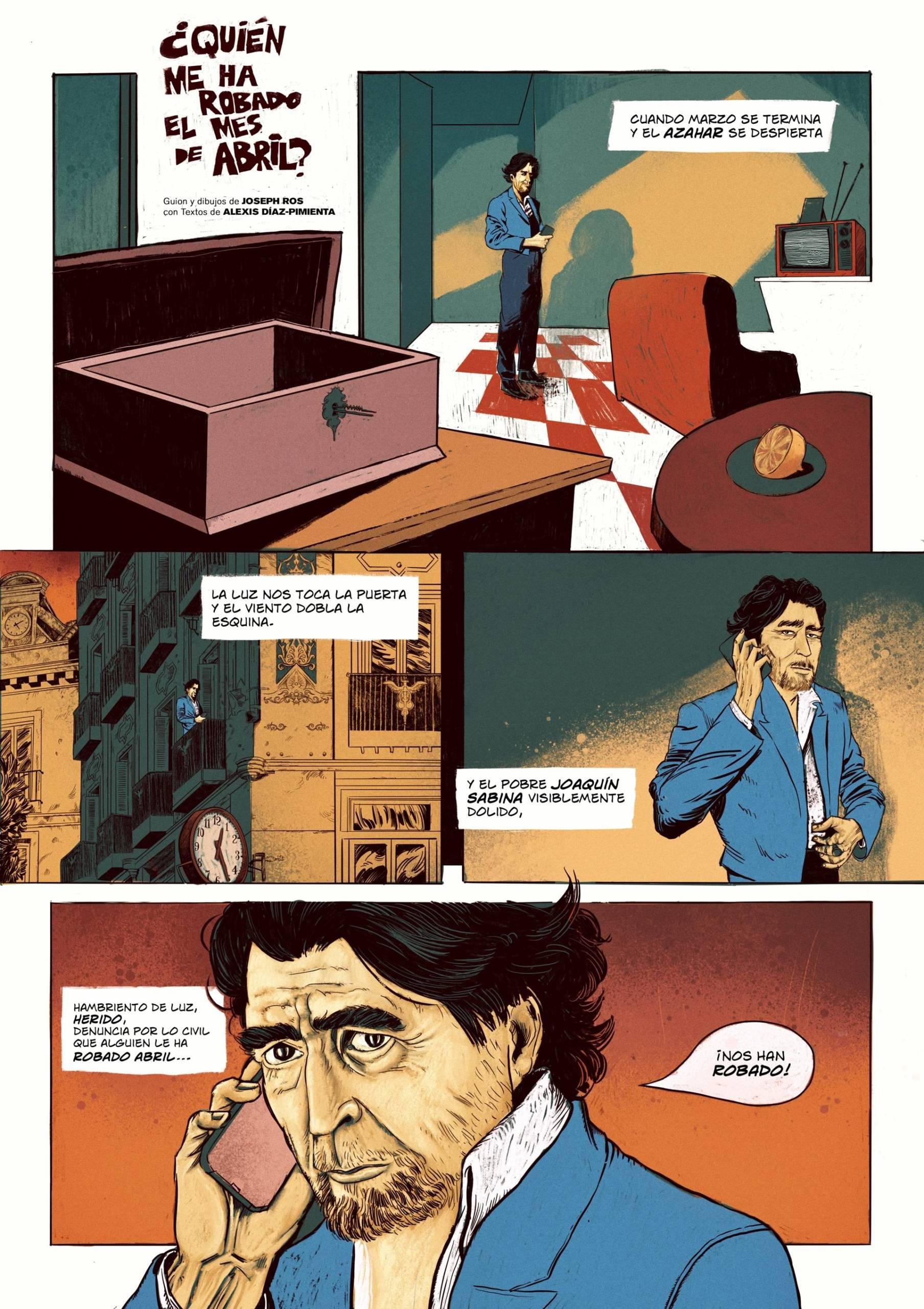 Quién me ha robado el mes de abril. Ilustración: Joseph Ros.