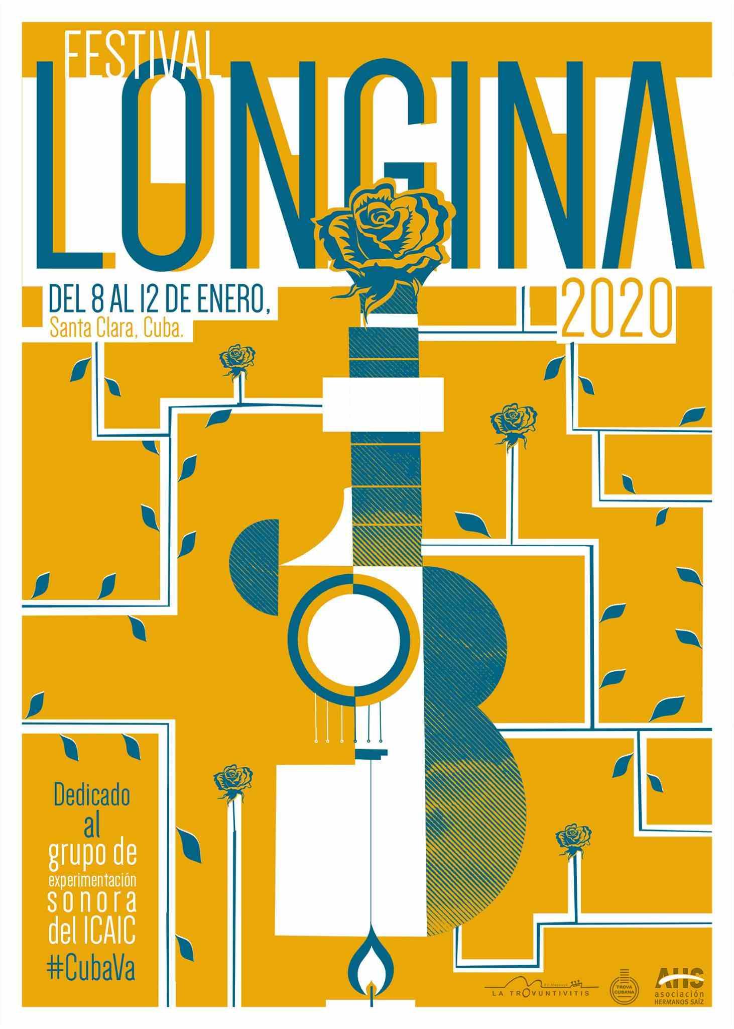 Cartel del Festival Longina 2020. Diseño: Alejandro Cuervo.