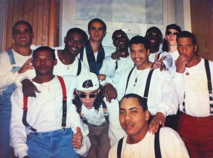 Con la banda de Manolín, el Médico de la Salsa. Photo:  Interviewied's courtesy