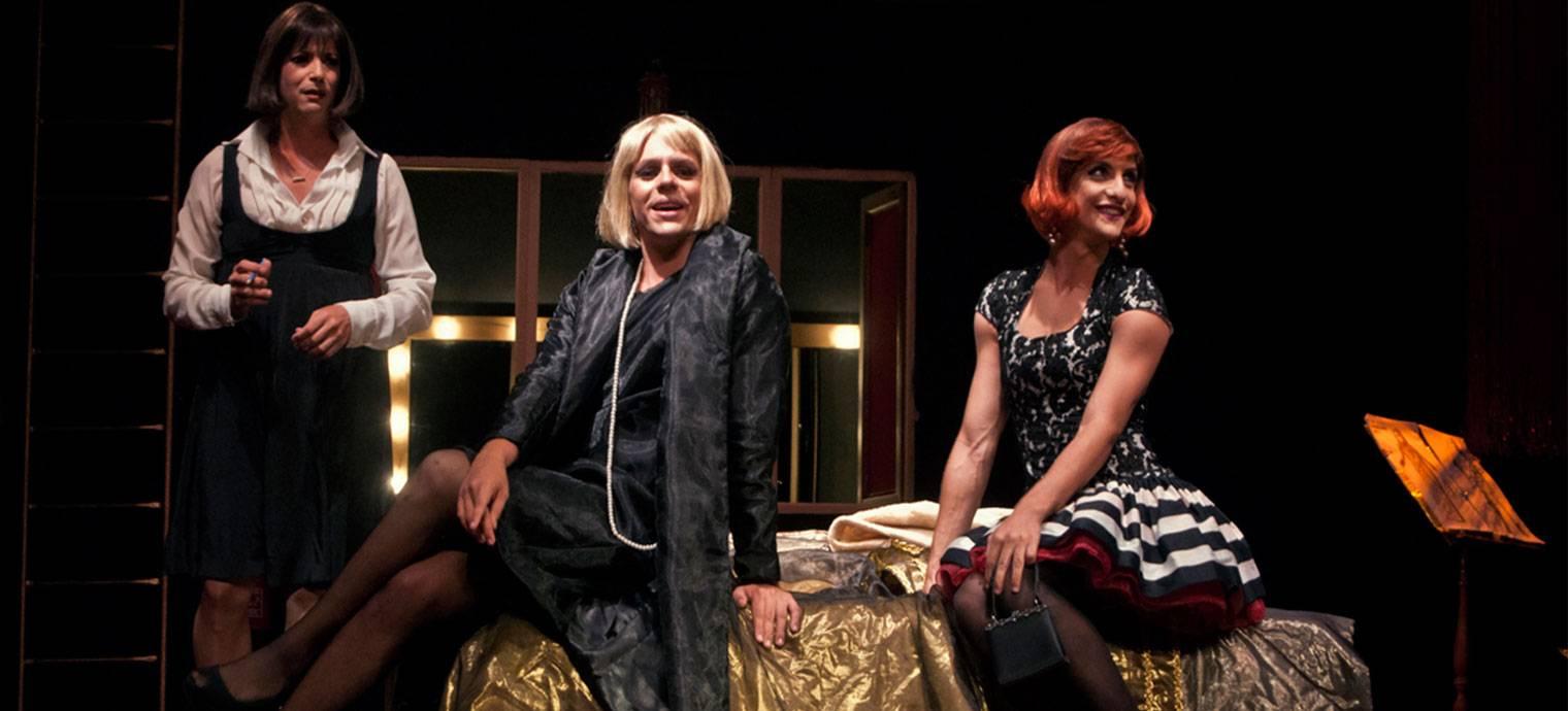 Puesta en escena de Las amargas lágrimas de Petra von Kant. Foto: Yuris Nórido.