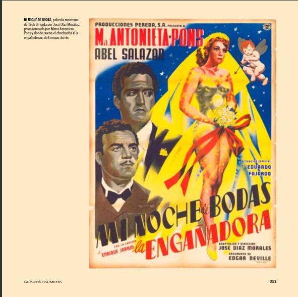 Detalle de páginas interiores del libro Fragmento de la portada del libro Chachachá: un baile y una época, de la Colección Gladys Palmera.