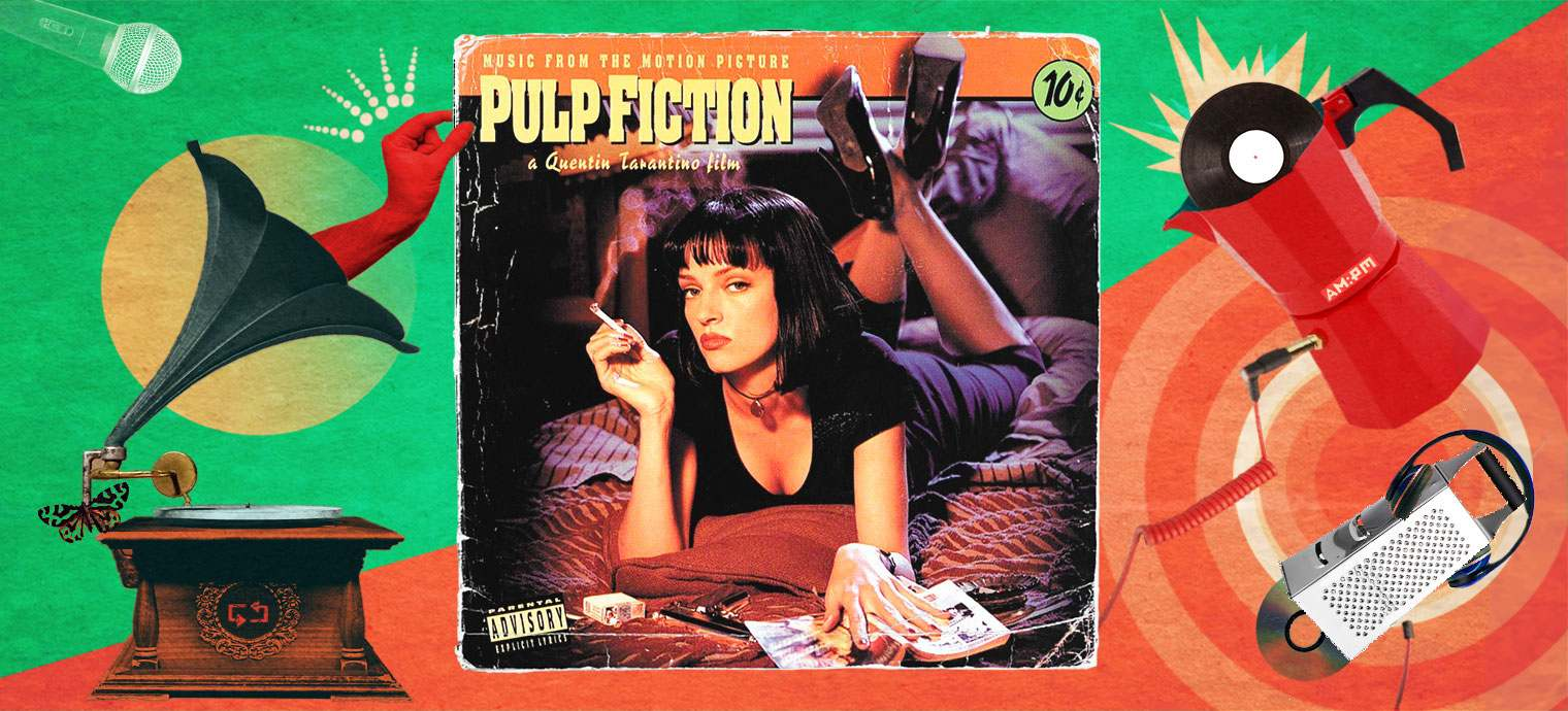 Music from The Motion Picture Pulp Fiction. Diseño: Jennifer Ancízar.