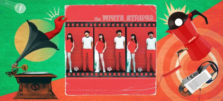 The White Stripes. Diseño: Jennifer Ancízar.